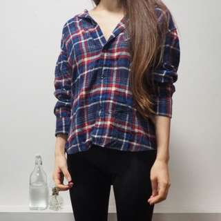 Plaid blue/red Shirt