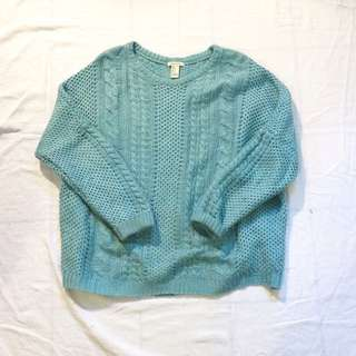 Forever 21 Teal knit sweater