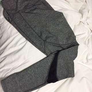 NEW gray Leggings With Mesh Detail