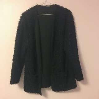 Fuzzy Sweater Cardigan