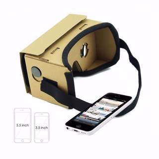 DIY Virtual Reality Glasses Google Cardboard Glasses 3D Glasses VR Box Movies for iPhone 5 6 7 Smart Phones VR Headset