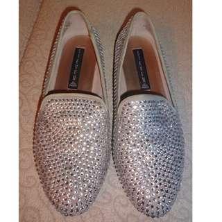 🚚 Steven Madden  貼鑽平底鞋 6.5