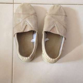Preloved Mothercare Gold Shoe
