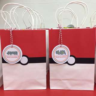 Pokemon gift bag for goodie bags / party favours