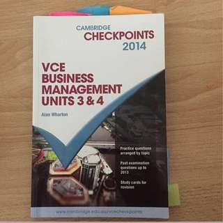 VCE Business Management Unit 3/4 Checkpoint
