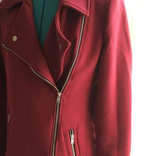 Dotti Burgundy Trench Coat