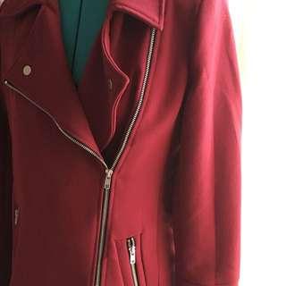 Dotti Burgundy Trench Coat