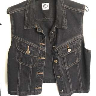 Opshop Sleeveless Denim Jacket