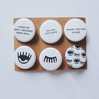 Custom Made Tumblr Inspired Badges