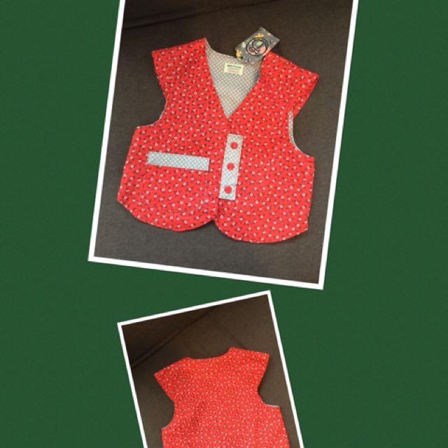 100% Cotton Waistcoat Handmade In New Zealand (0-1 Year Old)