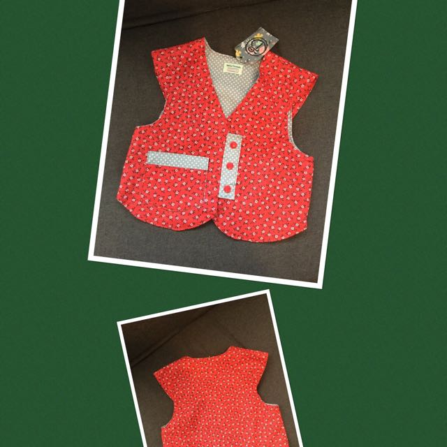 100% Cotton Waistcoat Handmade In New Zealand (2-3 Year Old)