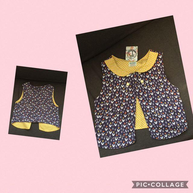 100% Cotton Waistcoat Handmade In New Zealand (4-5 Year Old)