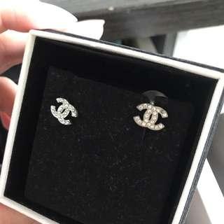Chanel mini logo earrings