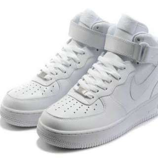 Nike Air Force One High White
