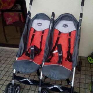 chicco twin stroller