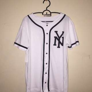 Black & White NY Baseball Shirt