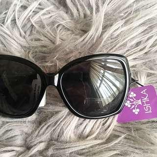 Ishka Women's Sunglasses Oversized Black