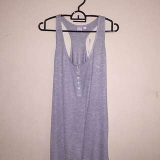 Grey Button Up Tank Top
