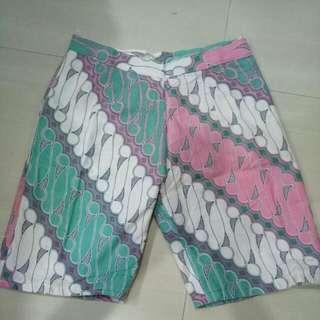 Preloved Kulot Batik Tosca Pink