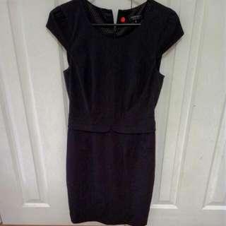 Black Portmams Dress Size 8