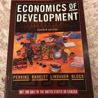 ECONOMICS OF DEVELOPMENT TEXTBOOK