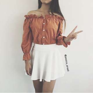 Korean Style Off-shoulder Top