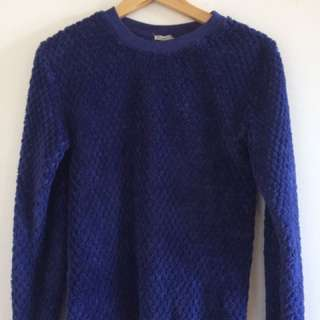 Target Collection Fluffy Navy Sleeper Jumper