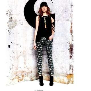 sass & bide camo skinny jeans pants  size 25 (7)  rrp$340    sell $50