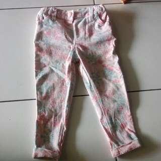 Celana Motif Semi Jeans