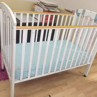 My Dear Baby Cot With Matress