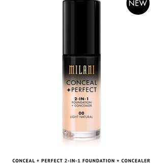 MILANI foundation conceal 2in1