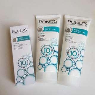 Ponds Acne Solution Facial Wash 2pcs Dan Moisturizer