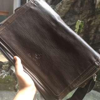 tas sling bag/work kulit samsonite original asli murah