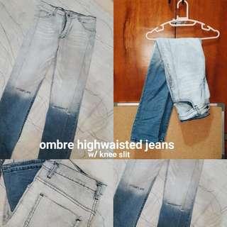 Ombre Denim HighWaisted Jeans