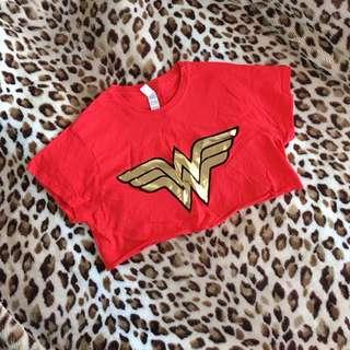Wonder Woman Short Red Tee