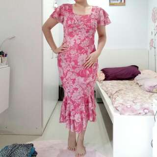 P.S Pink Floral Dress