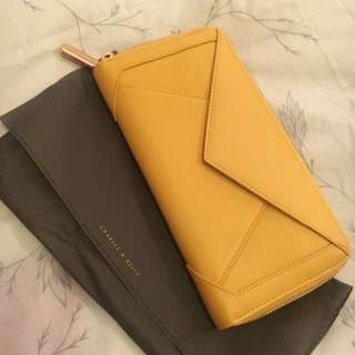 Charles And Keith Wallet Yellow
