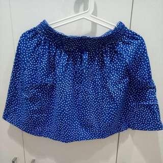 Zara Mini Skirt Polkadot Blue