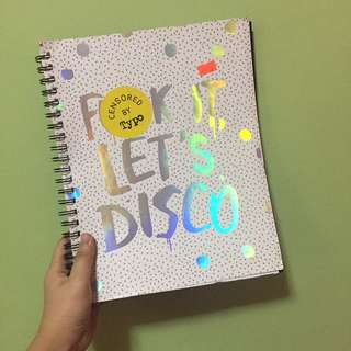 Typo Notebook Binder