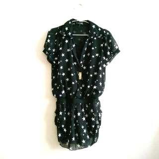 黑色星星連身裙