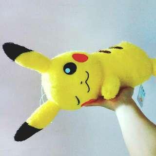正版全新 趴地睡覺比卡超公仔 寵物小精靈 日本 Pokemon Pikachu Japan 景品 Plush Toy
