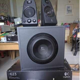 Logitech Z623 2.1 Home Speaker System (SEMI-WORKING)