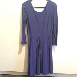 GLASSONS - Dark Blue Skater Dress - Size 8