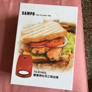 聲寶烤吐司三明治機(蘋果紅)
