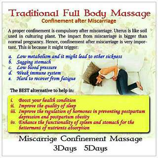 Traditional Miscarriage Massage