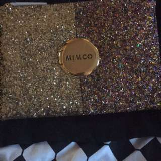 BNWT Gold Mimco Sparks Fly Pouch