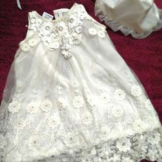 Christening Dress With Veil