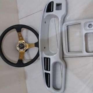 Radio Panel..dashboard Panel And Steering