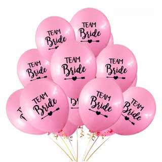 10 x Pink Hens Night Party Balloons.