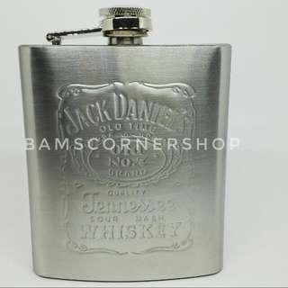 Stainless Steel Hip Flask 7 Oz 🆓 ONGKIR
